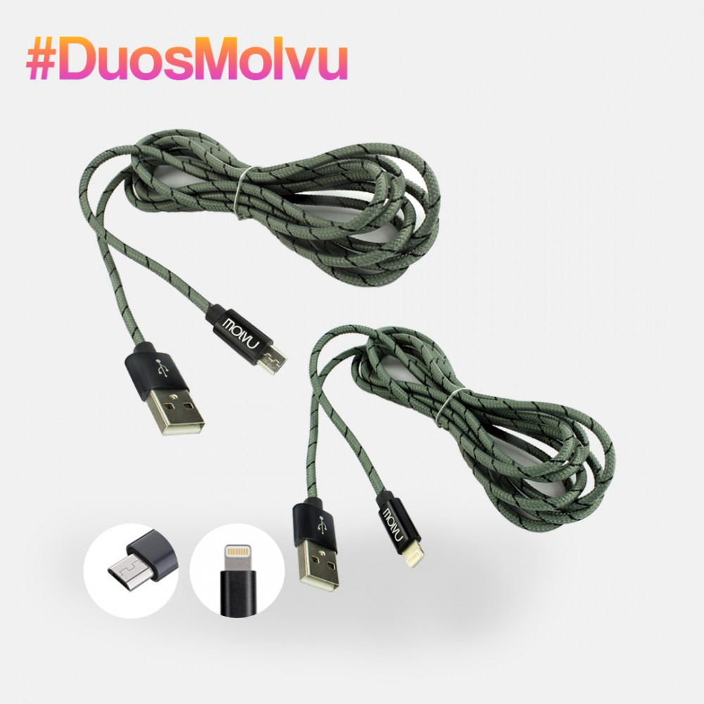 Duo de cables lightning y microUSB