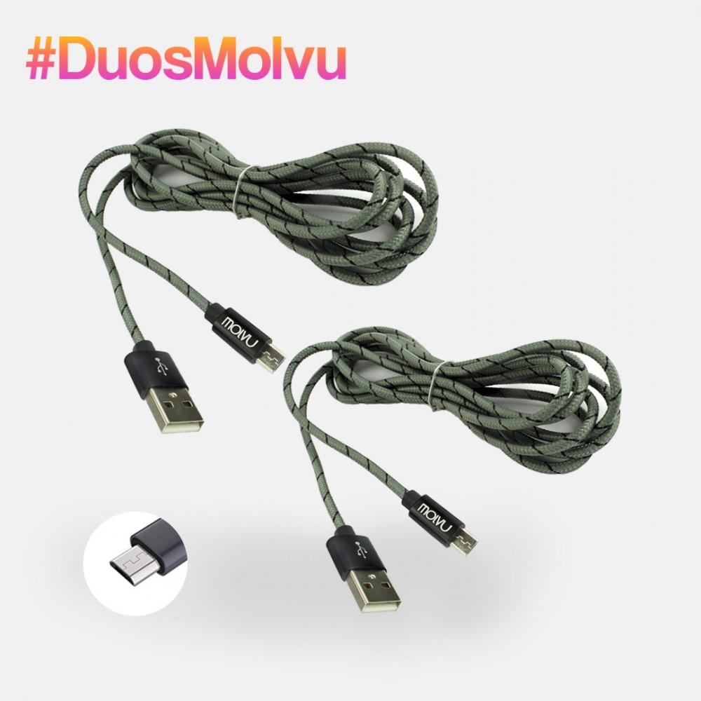 Duo de cables microUSB