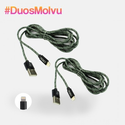 Duo de cables lightning