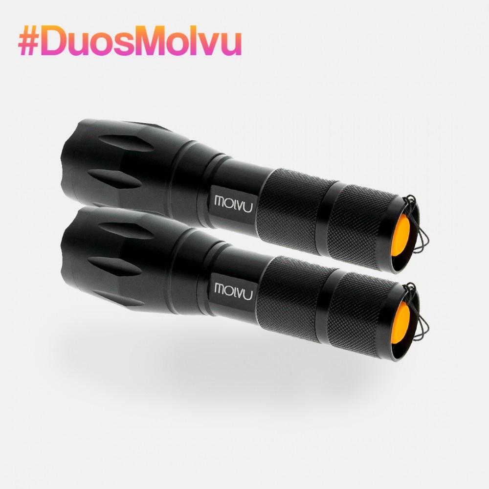 Duo linternas LED FUEGO 1000lm