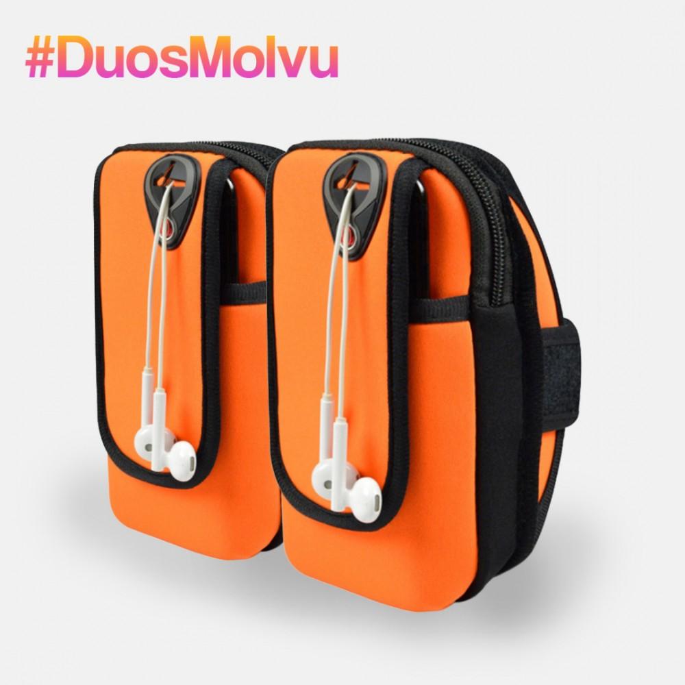 Duo de estuches para brazo Naranja