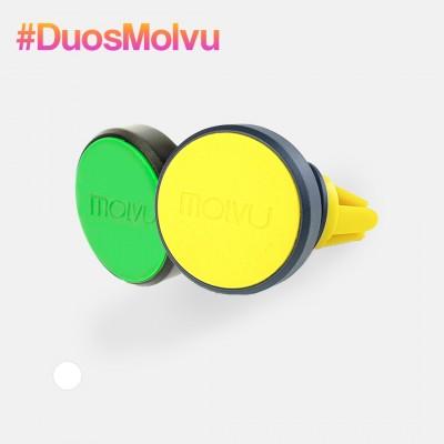 Duo de sujetadores AC verde y amarillo