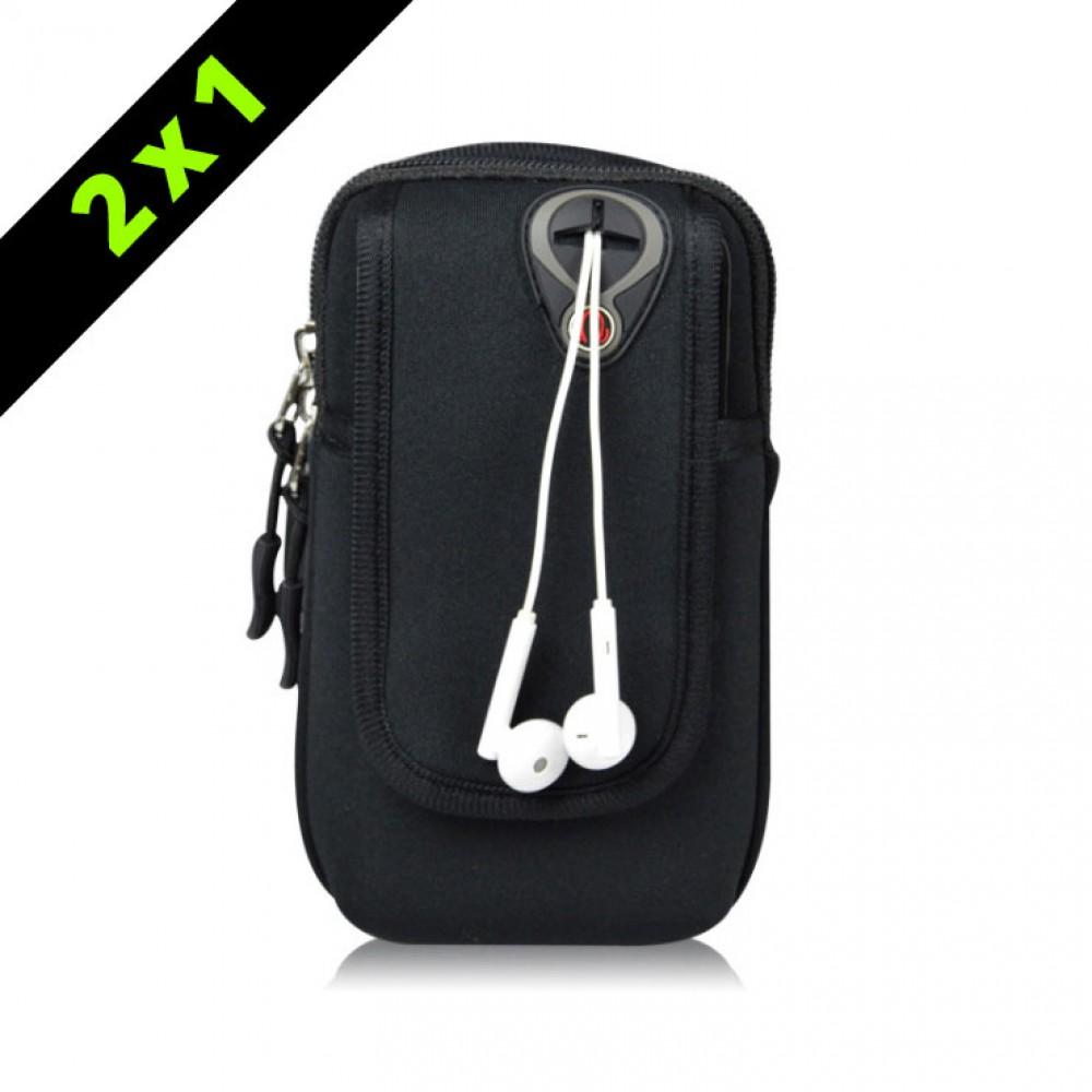 Armpack deportivo para brazo Negro