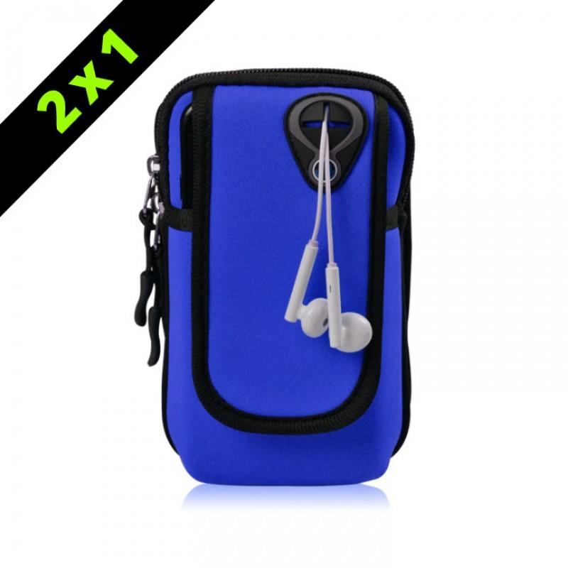 Armpack deportivo para brazo Azul