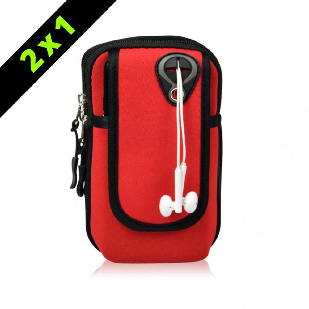 Armpack deportivo para brazo Rojo
