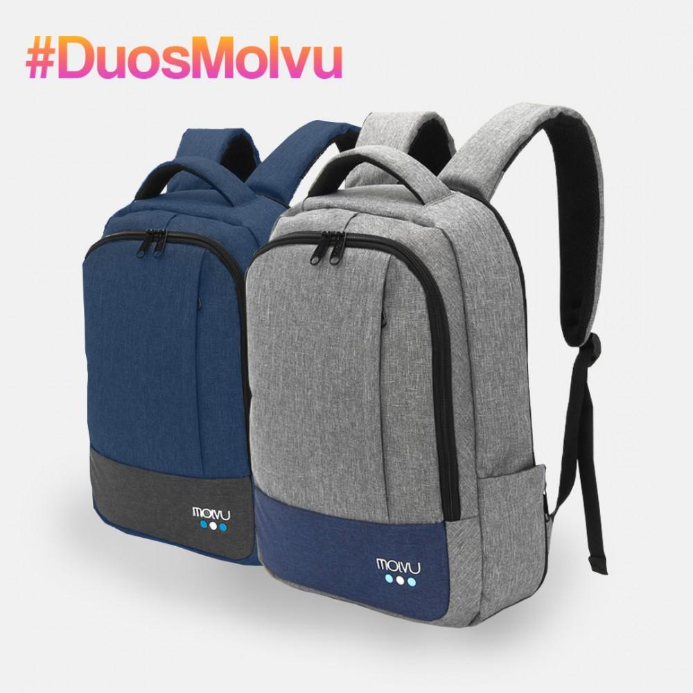 Duo Mochila U2 Gris y Azul