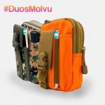 Duo estuches tácticos M064 Naranja y Verde Pixel
