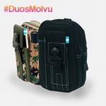 Duo estuches táctico M064 Negro y Verde Pixel