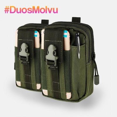Duo estuches tácticos M064 Verde