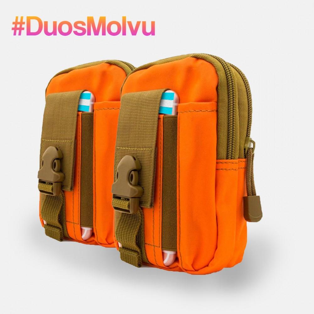 Duo estuches tácticos M064 Naranja