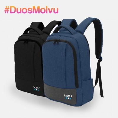 Duo Mochila U2 Negro y Azul