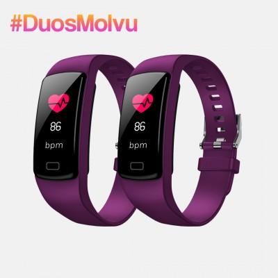Duo relojes inteligentes T1 Morados