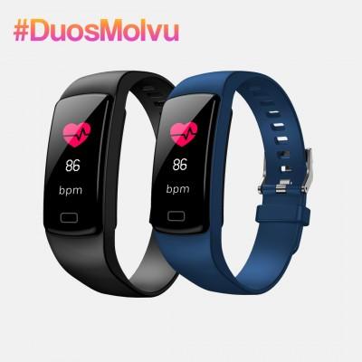 Duo relojes inteligentes T1 Nego y Azul
