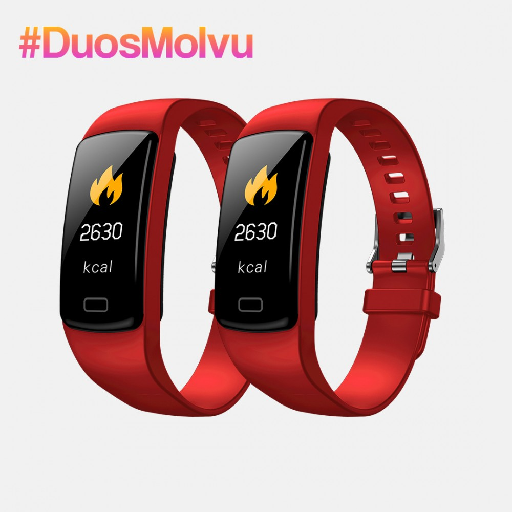Duo relojes inteligentes T1 Rojos