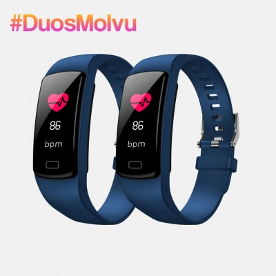 Duo relojes inteligentes T1 Azules