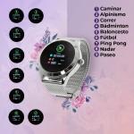 Reloj inteligente T2 plateado