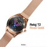 Reloj inteligente T2 rose gold